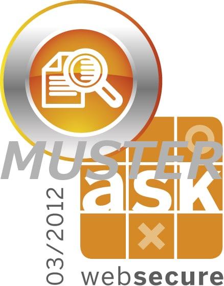 ask Datenschutz Zertifikat websecure sicherer gepruefter webauftritt muster